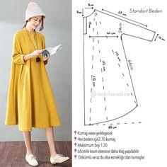 Geçen gün hikayede bahsettiğim elbise-tunik💛 model tüm kollu ve kloş kesim. Kollar bütün olduğundan boy maksimum bu kadar. Tam boy yapmak istiyorsanız kolları ayrı çalışmanız gerek ✌🏻 hikaye kısmına da detaylar ekliycem akşam💛 #nebihanindikisnotlari