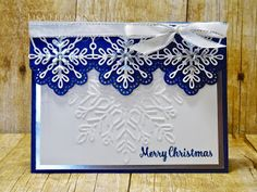 Peanuts and Peppers Papercrafting: Make It Monday - Swirly Snowflakes Thinlits Christmas Card (Merry Christmas!)