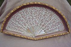 Antique 19th Century Hand Fan - Rare Point de Venice Rosepoint Needlelace Fan
