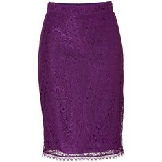 EMILIO PUCCI Lace Pencil Skirt (5.180 HRK) found on Polyvore