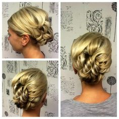 Updo bride wedding hair