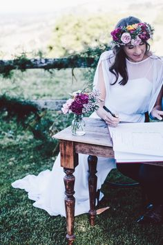 Dark Timber Signing Table - For Hire at The Wedding Shed for your #ByronBay #Wedding