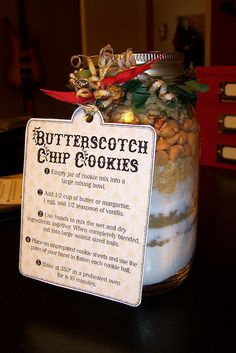 Mason Jar Cookies: Butterscotch Chip Cookies, Cranberry Hootycreeks, Chocolate Chip Cookies, Holiday Cookies, Oatmeal Raisin Spice Cookies and Brownie Mix Mason Jar Cookies, Cookie Jars, Cookie Mixes, Cookies In A Jar, Spice Cookies, Jar Gifts, Food Gifts, Gift Jars, Mason Jar Mixes