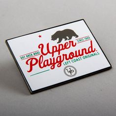 Nothing's better than free. Get your own Upper Playground pin FREE with any online purchase! Available while supplies last. #ShopUp #UpperPlayground #Free