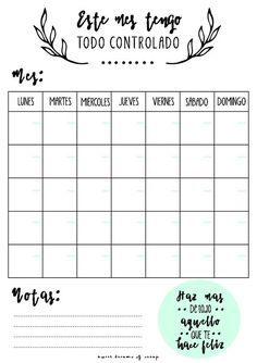 Hace bastante tiempo que quería diseñar mi propio organizador o planning mensual donde ir apuntando ideas sobre proyectos que quiero hace...