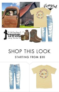 """""""Country Life- CowGirl"""" by pantherbluegrace ❤ liked on Polyvore featuring Ariat and country"""
