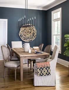 Dining Room Paint, Dining Room Design, Dining Rooms, Transom Windows, Modern Farmhouse Style, Coastal Farmhouse, Interior S, Bedroom Colors, Interiores Design