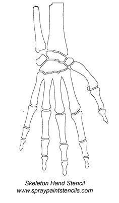 Skeleton+Hand+Stencil | Hand Stencil Pictures, Skeleton Hand Stencil Graphics…
