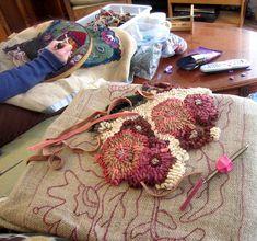Ann Willey and Brenda Beerhorst rug hooking | by {studiobeerhorst}-bbmarie