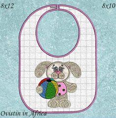 Bunny Bibs Large and Small Bibs, Bunny, Embroidery, Dribble Bibs, Burp Cloths, Hare, Rabbits, Drawn Thread, Cut Work