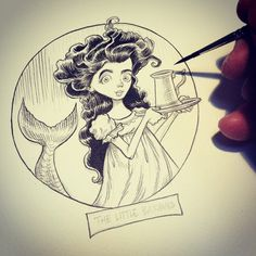 Chris Riddell: The Little Barmaid Illustration Art, Illustrations, Storyboard, Art Sketches, Art Boards, Ink, Reading, Pictures, Painting