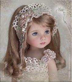 OOAK HAIR FRILLZ 4 Effner Little Darling Ellowyne Prudence Amber BJD by Linda