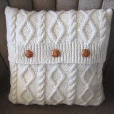 Diamonds and Cables ... by Ladyship | Knitting Pattern - Looking for your next project? You're going to love Diamonds and Cables Knit Pillow Cover by designer Ladyship. - via @Craftsy