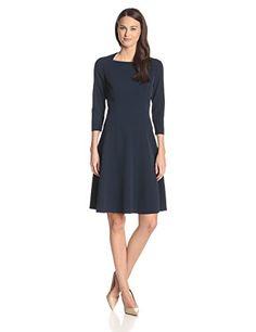 18dcb9cb7e Amazon Fashion POV 1 · Anne Klein Women s 3 4 Sleeve Drop Waist Dress