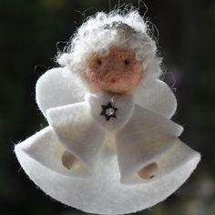 Felt angel decoration White angel ornament Christmas angel decoration White angel Christmas decoration MADE TO ORDER Angel Crafts, Christmas Projects, Felt Crafts, Christmas Crafts, Christmas Angel Decorations, Christmas Angel Ornaments, Felt Ornaments, Christmas Sewing, Christmas Diy
