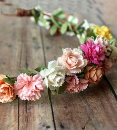 Intricate paper flower crown
