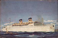 SS Lurline, Matson Lines Returned from mainland trip on Lurline in 1956.