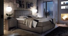 Tapicerowane łóżko kontynentalne z zagłówkiem. http://www.aaaameble.pl/