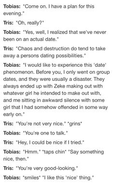 Tobias and Tris' first date