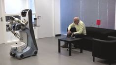 The 6 Robots That Will Wash And Feed Us When We're Old - This  robot checks its database for the users preferred location In the living room and as a result places the drink on the table. Check out link for other interactive robots.