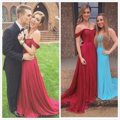 Custom Made Off Shoulder Dark Red Long Prom Dresses, Long Evening Dresses, Formal Dresses