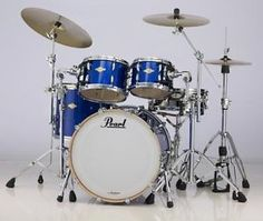 New & Factory Sealed Pearl Masters MCX Blue Sparkle Drum Set - Includes 4 Drums:  22x16 Bass Drum, 10x7 Tom and 12x8 Toms w/Optimount, 16x14 Floor Tom with Legs, - FREE SET OF FOUR HUMES & BERG GALAXY DRUM BAGS -   FREE Ship Continental USA - Also Ships to Alaska & Hawaii! http://stores.ebay.com/music-for-all-03