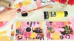 alisa burke - pink and yellow!