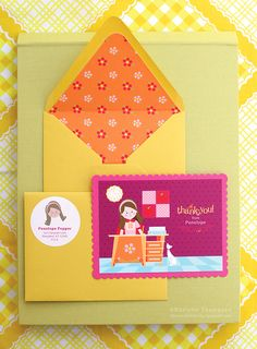 Happy Mail! Etsy shop that sells customized stationary sets for kids!
