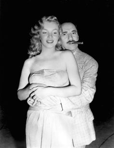 Marilyn Monroe and Groucho Marx, 1949.