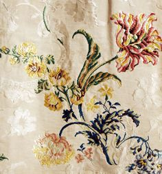 18th century textile from the Metropolitan Museum of Art