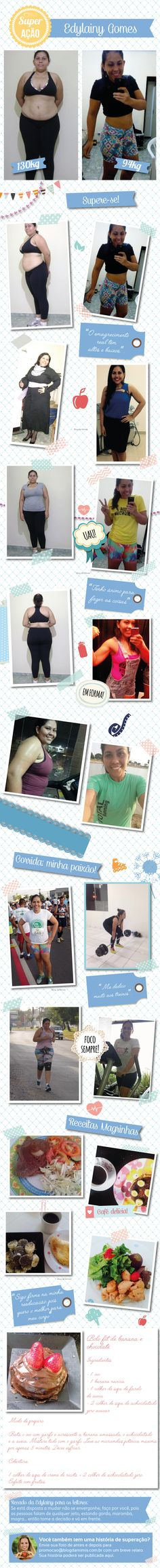 Superação Edylainy Gomes - Blog da Mimis - Mamãe sarada: ela saiu da obesidade mórbida para a boa forma.