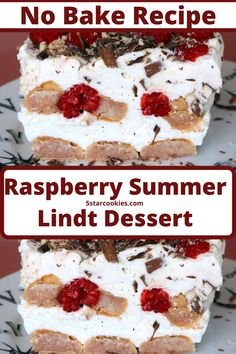 Raspberry Summer Lindt Dessert – No Bake Recipe. This recipe is the perfect recipe when you don't want to turn oven on and you don't have a stove. Yes, this is real no bake recipe. Done in 15 minutes. All you need is the kitchenaid mixer. The ingredients are simple, recipe is for busy life and food lovers. Enjoy. #dessert #summer Chocolate Rum Cake, Chocolate Bomb, Chocolate Desserts, Chocolate Heaven, Raspberry Torte, Raspberry Recipes, Best Summer Desserts, Refreshing Desserts, All You Need Is