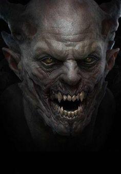 Vampire by Grassetti Art. (via Grassetti Art) Zbrush, Fantasy Kunst, Fantasy Art, Zombies, Portraits Illustrés, Vampire Art, Scary Vampire, Ange Demon, Vampires And Werewolves