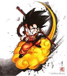 "Poster Dragon Ball ""Wanted"" Goku (variant) - cm) Dragon Ball Gt, Blue Dragon, Kid Goku, Manga Dragon, Geniale Tattoos, Anime Tattoos, Tatoos, Pikachu, Anime Art"