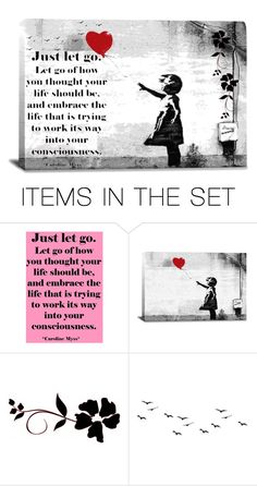 """Just Let Go!"" by shaheenk ❤ liked on Polyvore featuring art"
