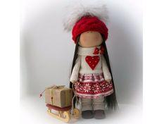 Muñeca tilda del amor arte muñeca Navidad por AnnKirillartPlace