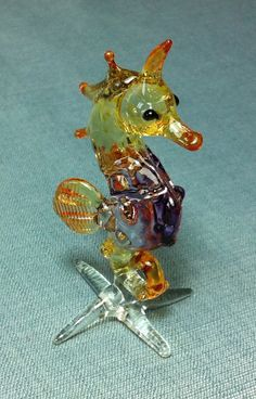 Hand Blown Glass Seahorse Sea Animal Cute by thaicraftvillage, $7.00