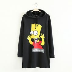Black Cartoon Naughty Simpson Hem Split Hoodie 15HD00031 ($27) ❤ liked on Polyvore featuring tops, hoodies, grey, grey sweatshirt, comic book, sweatshirts hoodies, cropped hoodie and black hoodie sweatshirt