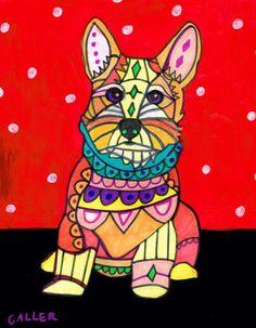 Portuguese Podengo Pequeno Art Print Dog by HeatherGallerArt, $24.00