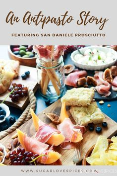 An Antipasto Story featuring Prosciutto Party Recipes, Party Snacks, Snack Recipes, Dried Figs, Fresh Figs, Food Now, A Food, Italian Bread Sticks, Delicious Recipes