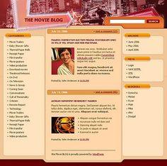 Movie Weblog WordPress Themes by Matrix