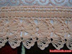 Crochet Borders, Filet Crochet, Crochet Stitches, Cotton Crochet, Crochet Lace, Crochet Afgans, Baby Knitting Patterns, Crochet Designs, Diy And Crafts