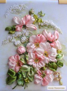 Gallery.ru / Нежный шиповник - 2014 год: новые вышивки лентами - Anneta2012