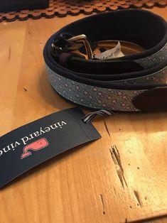 1c4bec1e12641 Vineyard Vines mens Lacrosse Lax canvas print leather belt 44  fashion   clothing  shoes  accessories  mensaccessories  belts (ebay link)