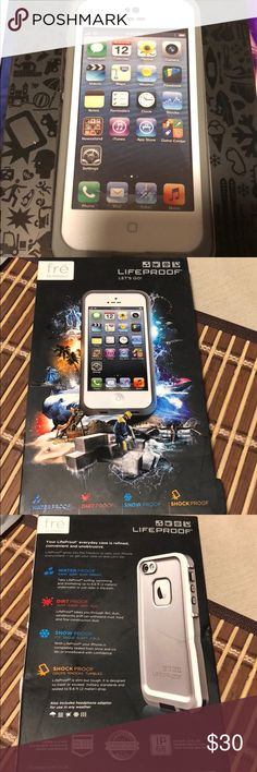 LifeProof  For iPhone 5  Case Brand New LifeProof iPhone 5 Case WaterProof 💦 Dirt   Proof Snow Proof ❄️ Shock PROOF   still in Excellent Condition never use it. smoke free home LifeProof Accessories Phone Cases