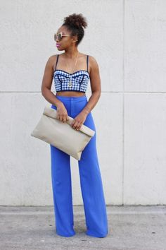 StyleLust Pages: Wide Leg Blues | Clutch available here: http://lovecortnie.com/products/color-me-roll-down-clutch/