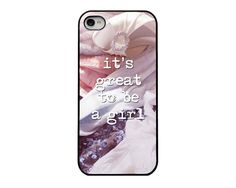 Girl Quote iPhone 4 or 5 Cover; Quote iPhone Case