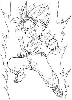 Desenhos para colorir para crianças. Desenhos para imprimir e colorir Dragon Ball Z 89