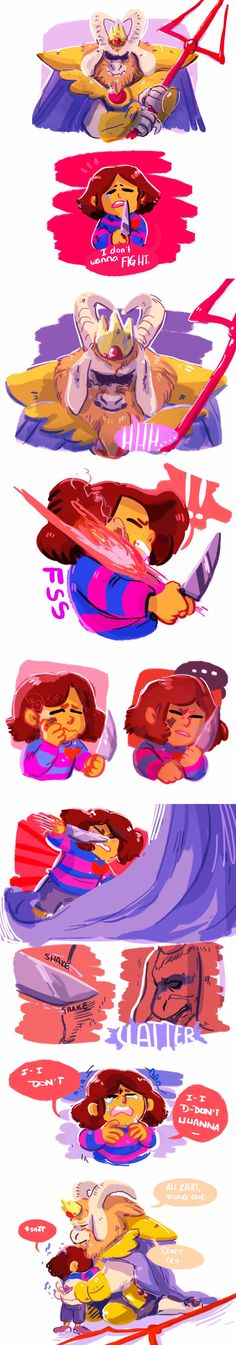 Asgore and Frisk #comic