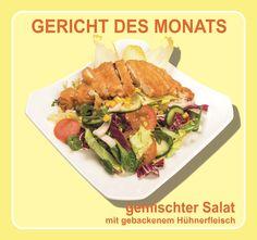 Monatsgricht Juni & Juli 2015: Gemischter #Salat mit gebackenem #Hühnerfleisch — KungFu - Wok | Reis | Nudeln